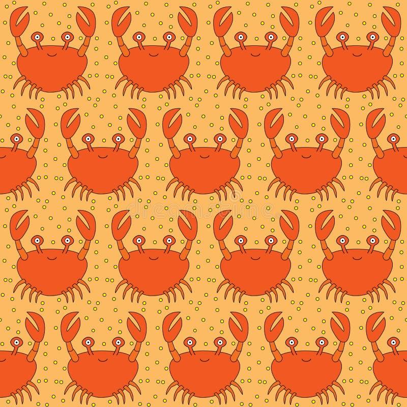 Nahtloses Krabbenmuster lizenzfreie abbildung