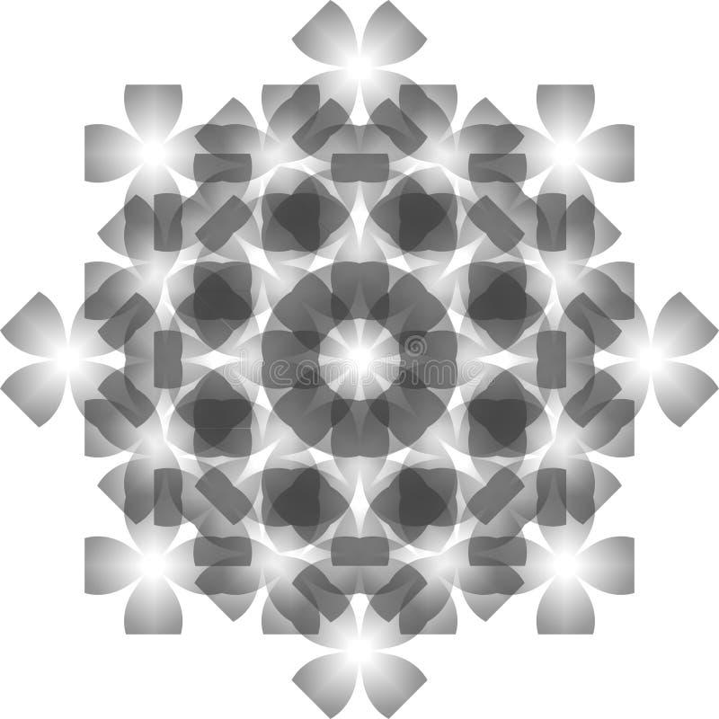 Nahtloses Kristallmuster stockbild