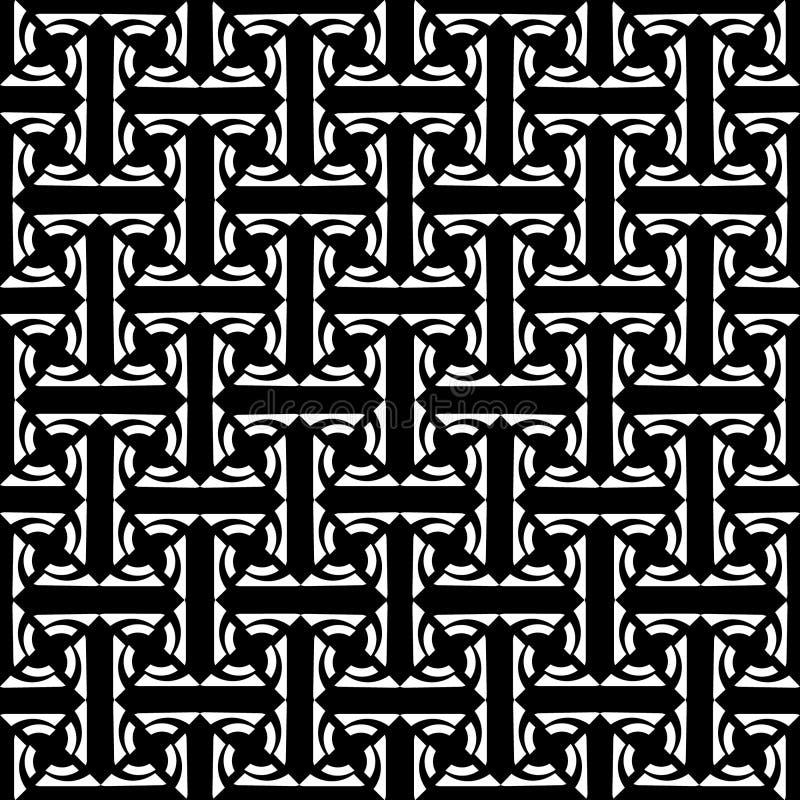 Nahtloses Labyrinthmuster. lizenzfreie abbildung