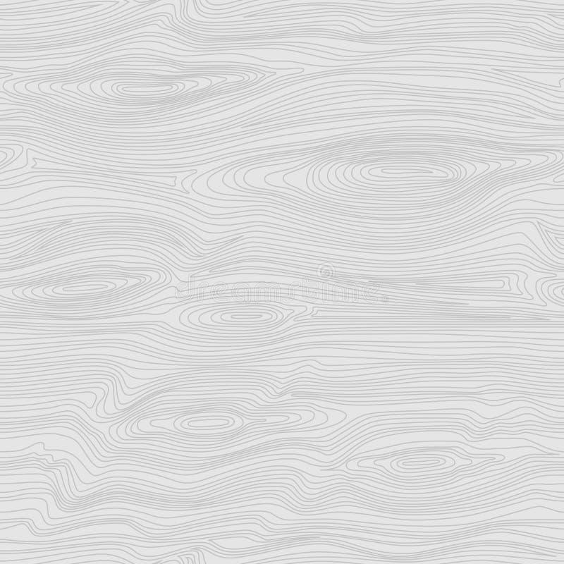 Nahtloses lineares Muster mit heller hölzerner Beschaffenheit Weißer hölzerner Hintergrund stock abbildung