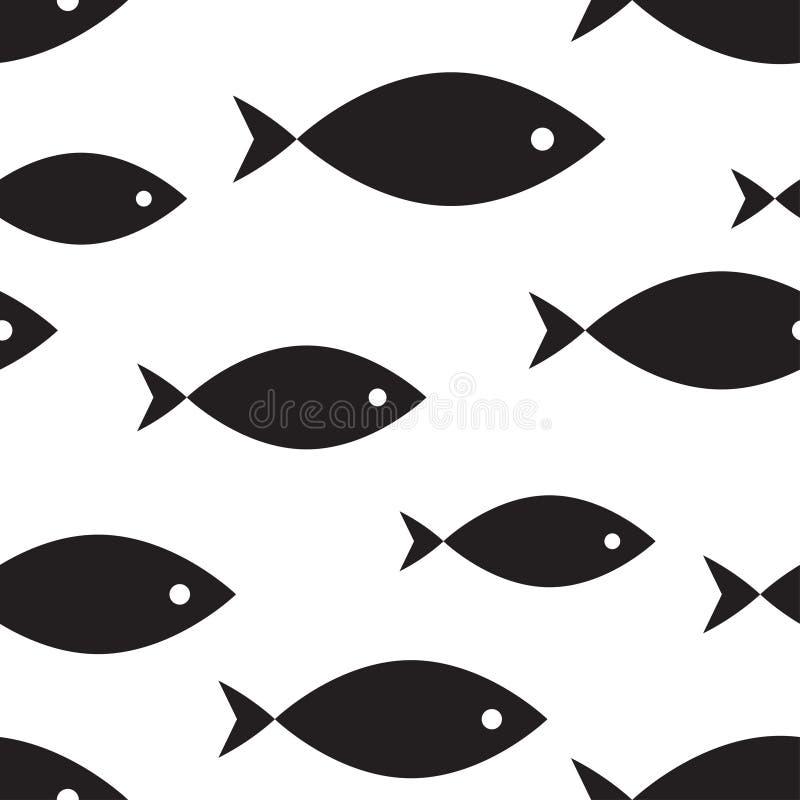 Nahtloses Marinemuster, Fisch stock abbildung