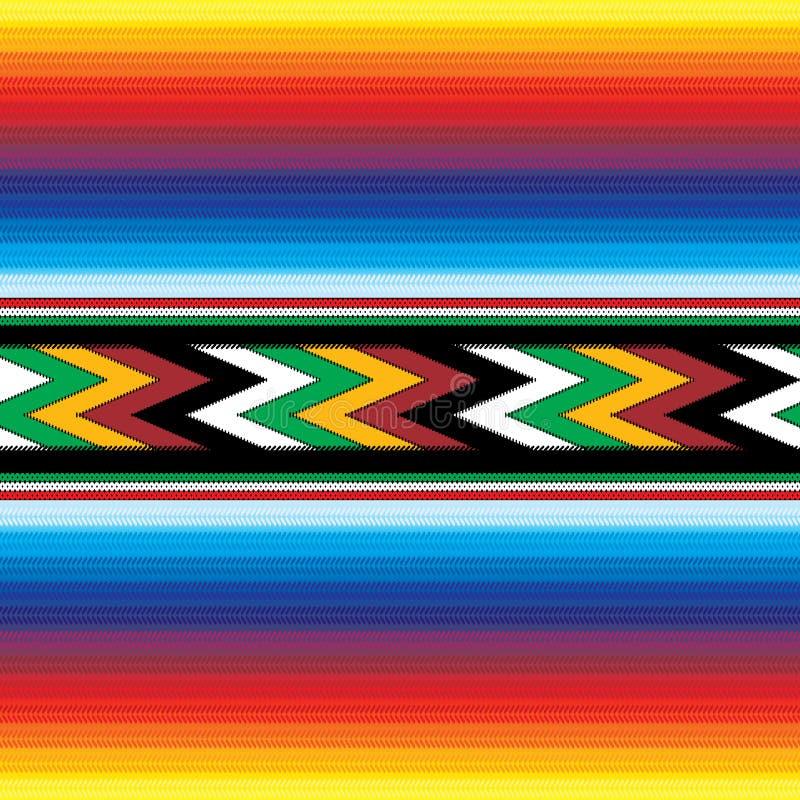 Nahtloses mexikanisches Muster lizenzfreie abbildung