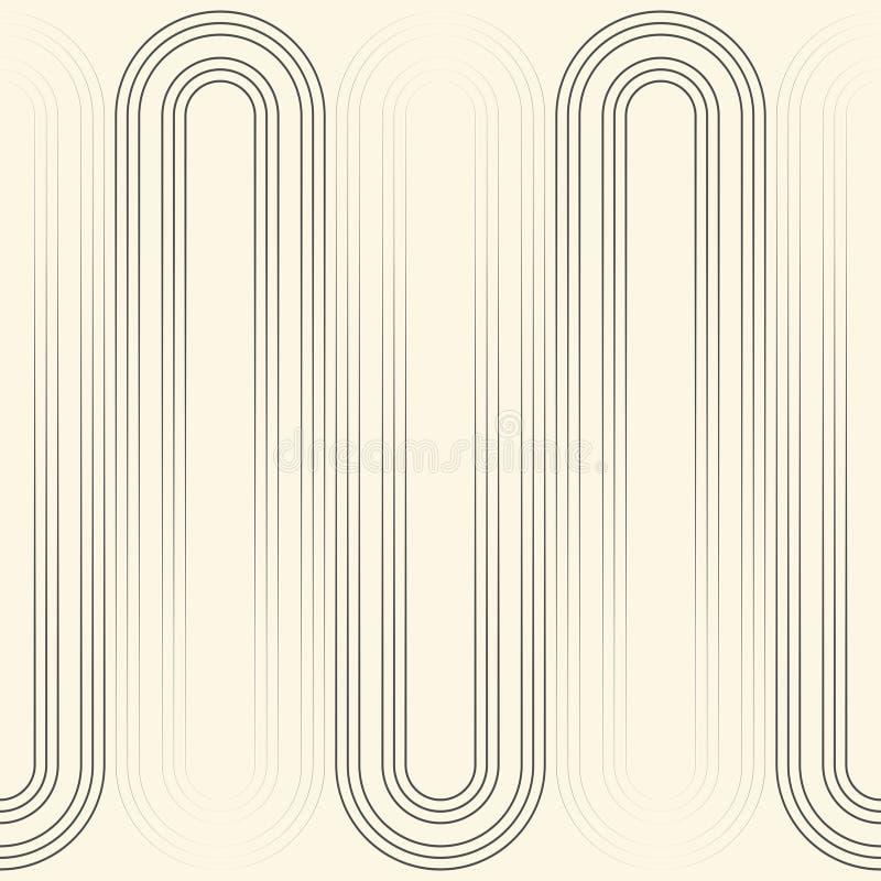 Nahtloses minimales Grafikdesign Schwarzweiss-Linie Muster lizenzfreie abbildung