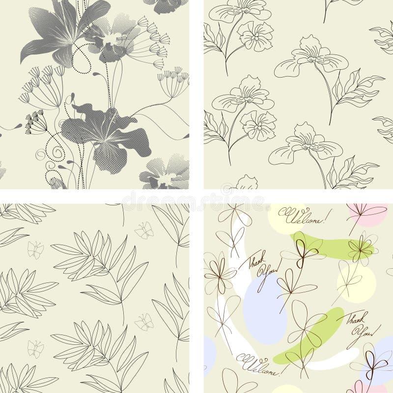 Nahtloses mit Blumenmuster. lizenzfreie abbildung