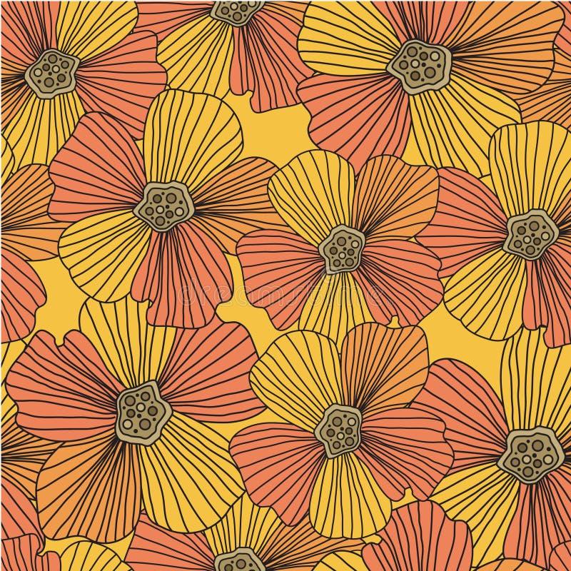 Nahtloses mit Blumenmuster vektor abbildung