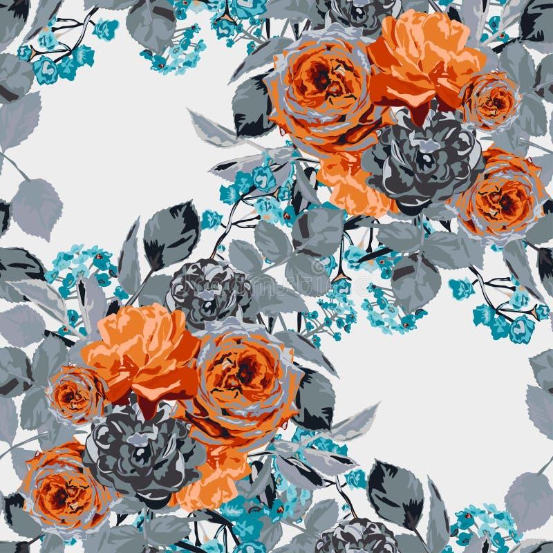 Nahtloses mit Blumenmuster lizenzfreie abbildung