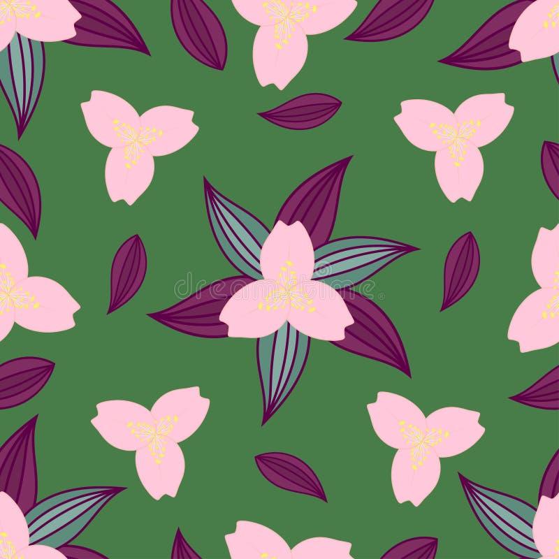 Nahtloses mit Blumenmuster Abstraktion lizenzfreie abbildung