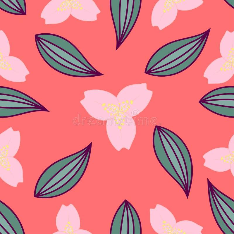 Nahtloses mit Blumenmuster Abstraktion vektor abbildung