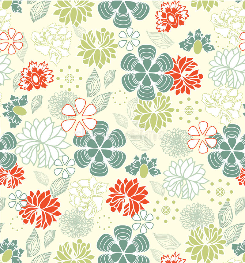 Nahtloses mit Blumenmuster, Auslegung vektor abbildung