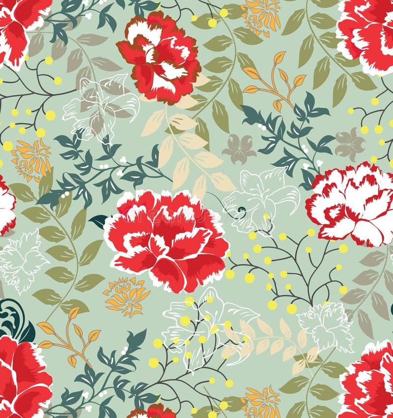 Nahtloses mit Blumenmuster, Auslegung lizenzfreie abbildung