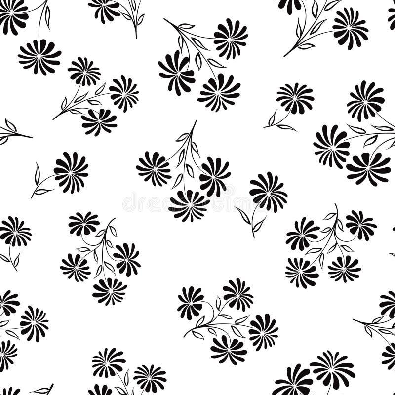 Nahtloses mit Blumenmuster Blumenblumenstraußhintergrund Blumen-seaml lizenzfreie abbildung