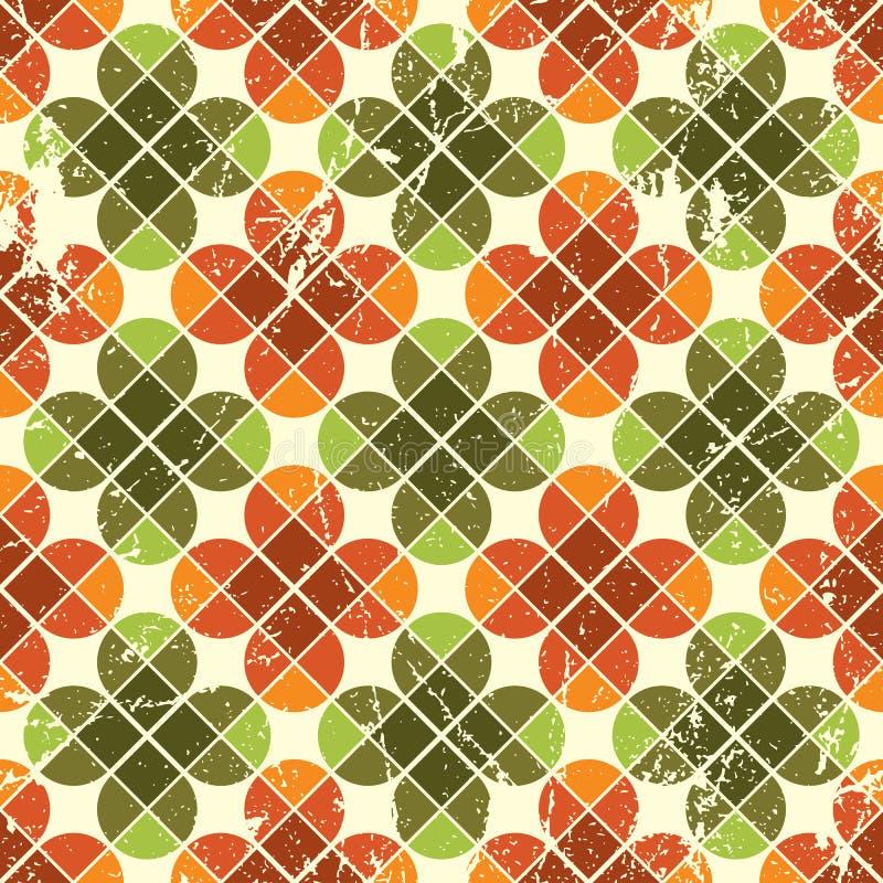 Nahtloses mit Blumenmuster der Weinlese, abstrakter Hintergrund stock abbildung