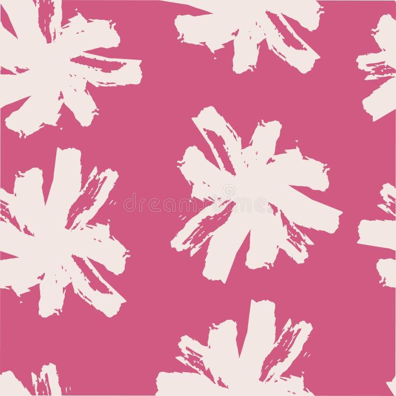 Nahtloses mit Blumenmuster des Anschlagkamillenmusters lizenzfreie abbildung