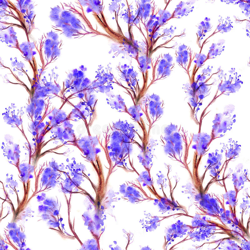 Nahtloses mit Blumenmuster des Aquarells vektor abbildung