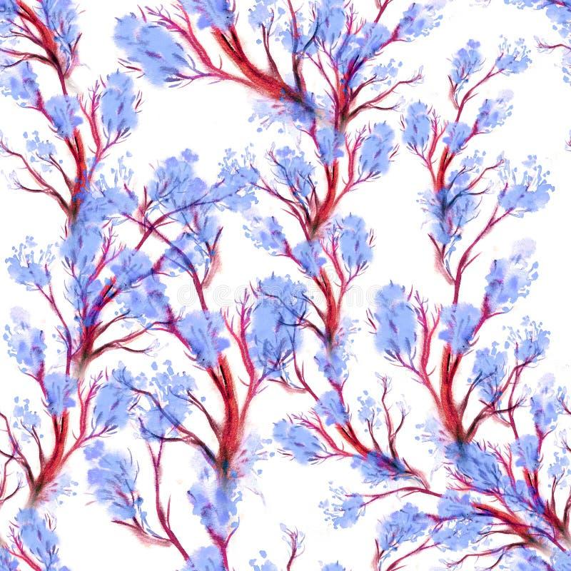 Nahtloses mit Blumenmuster des Aquarells lizenzfreie abbildung