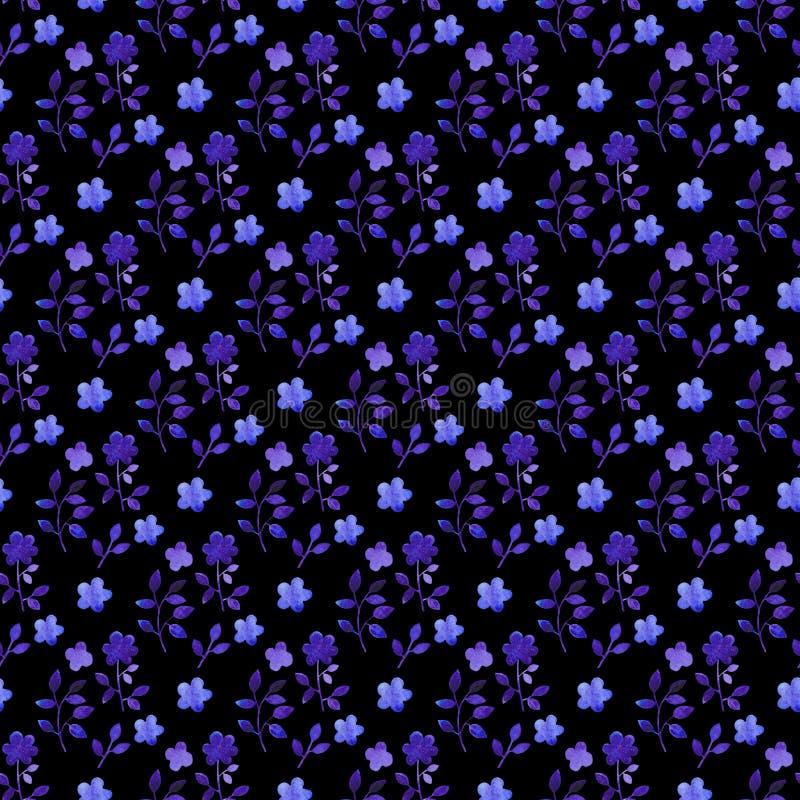 Nahtloses mit Blumenmuster des Aquarells Handdrawn botanischer Hintergrund vektor abbildung