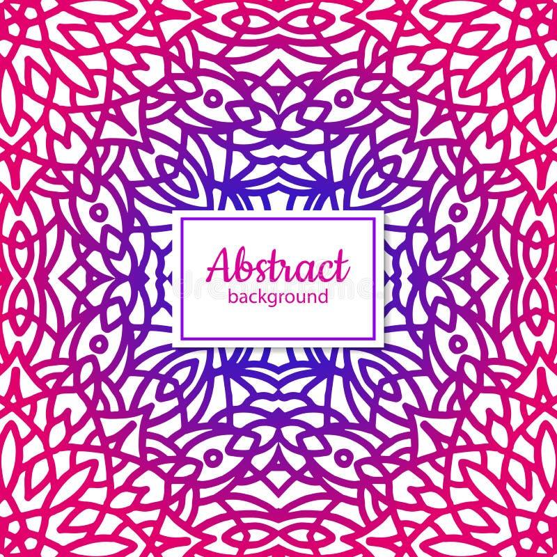 Download Nahtloses Mit Blumenmuster Des Ethnischen Vektors Mit Mandala Vektor Abbildung - Illustration von violett, geometrisch: 106803016