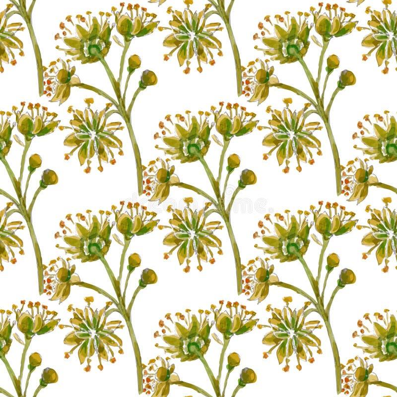 Nahtloses mit Blumenmuster des Vektors lizenzfreie abbildung