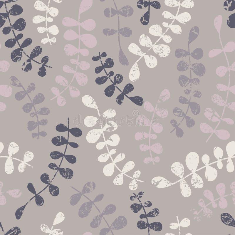 Nahtloses mit Blumenmuster des Vektors mit abstrakten Blättern Farbe-vecto lizenzfreie abbildung