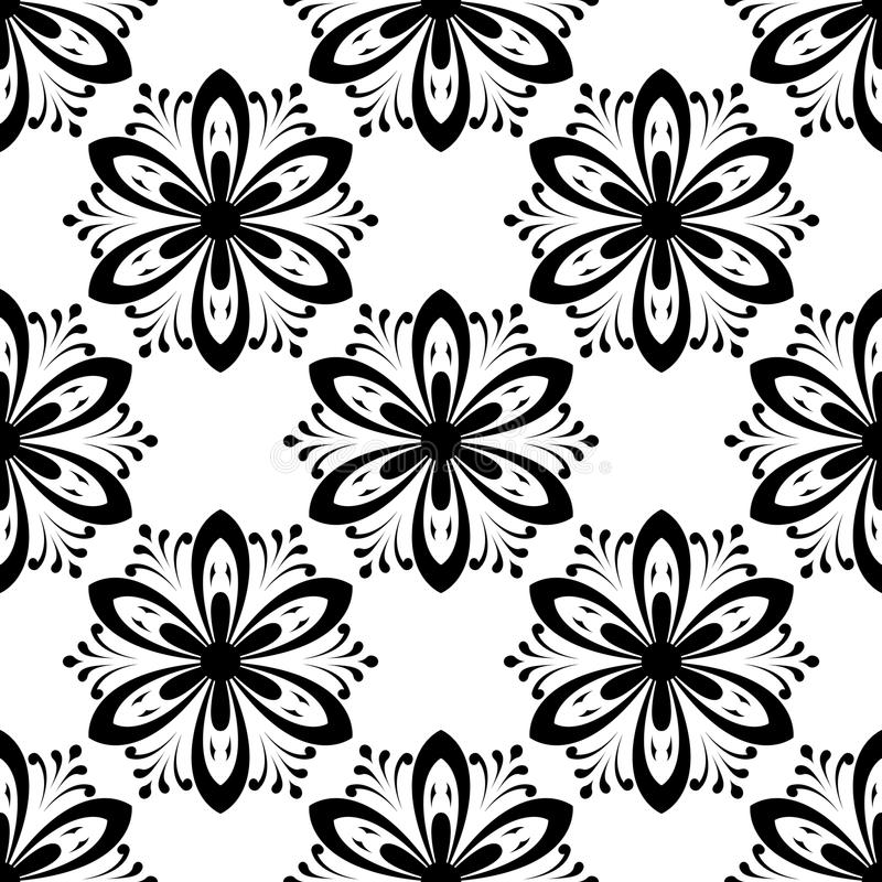 Nahtloses mit Blumenmuster entziehen Sie Hintergrund stock abbildung