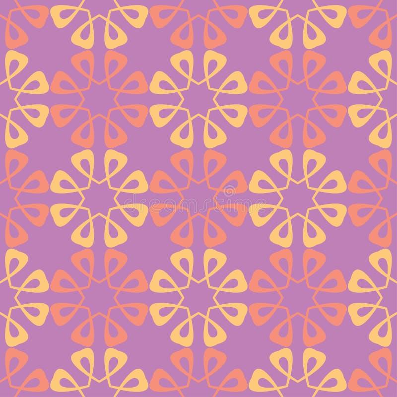 Nahtloses mit Blumenmuster Farbiger Hintergrund stock abbildung