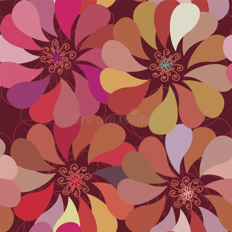 Nahtloses mit Blumenmuster mit stilvollem f lizenzfreie abbildung