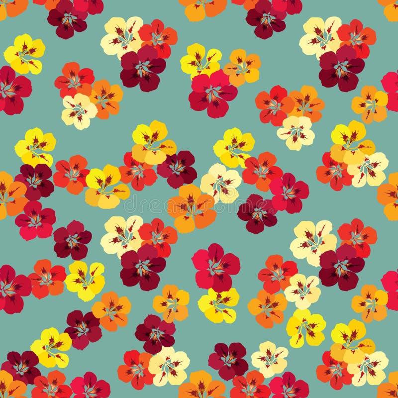 Nahtloses mit Blumenmuster Playnig mit Leuchte Flourishbeschaffenheit vektor abbildung