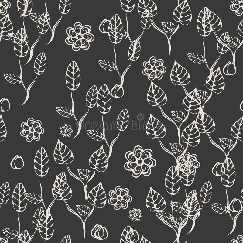 Nahtloses mit Blumenmuster Rebecca 6 stock abbildung