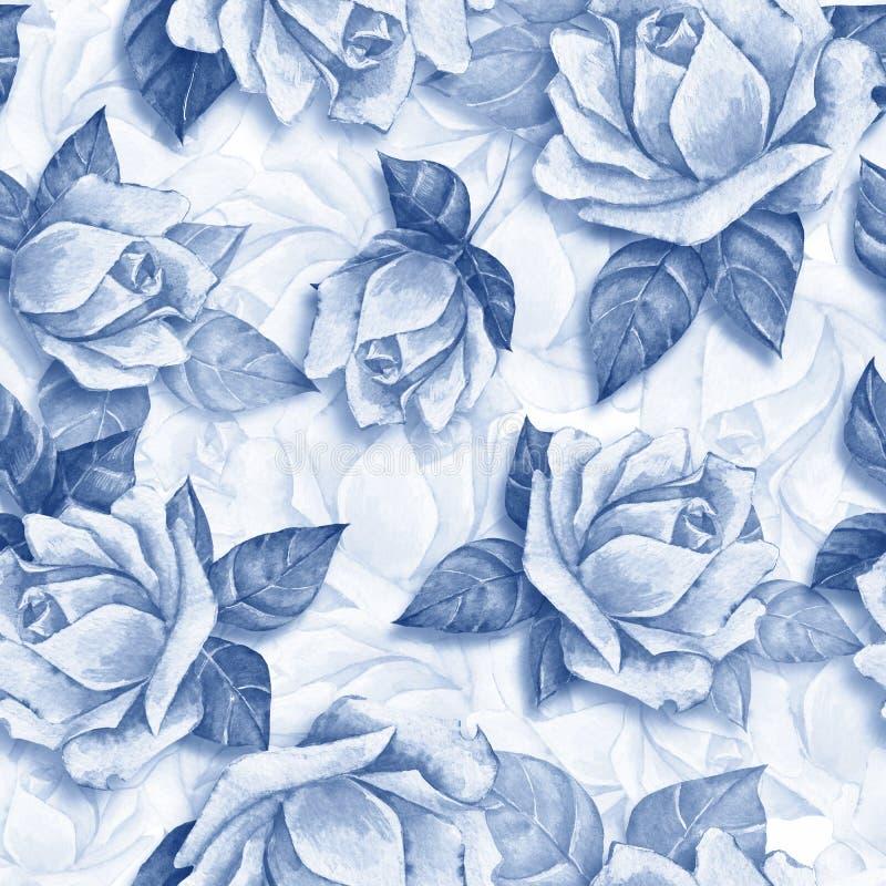 Nahtloses mit Blumenmuster mit schönem ro vektor abbildung