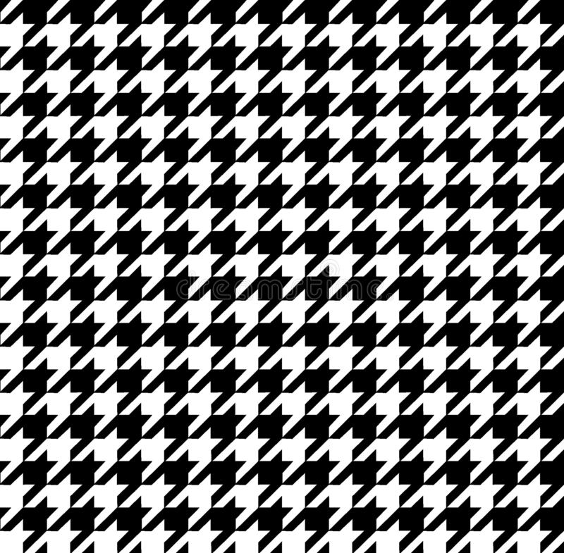 Nahtloses mordan hamtouth Schwarzweiss-Muster stock abbildung