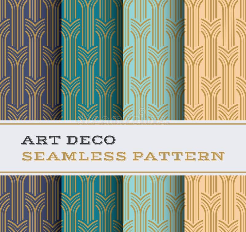 Nahtloses Muster 05 Art Decos vektor abbildung