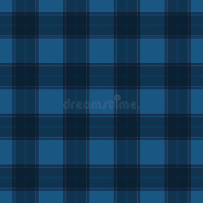 Nahtloses Muster blaues des Schottenstoffs buntes Textil lizenzfreie abbildung
