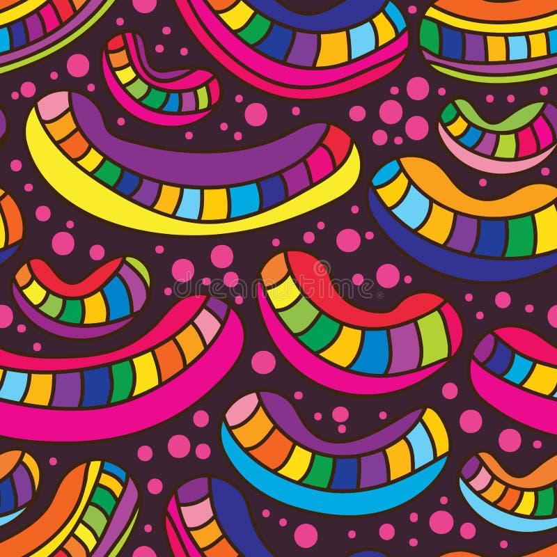 Nahtloses Muster coloful Lächelns Beans stock abbildung