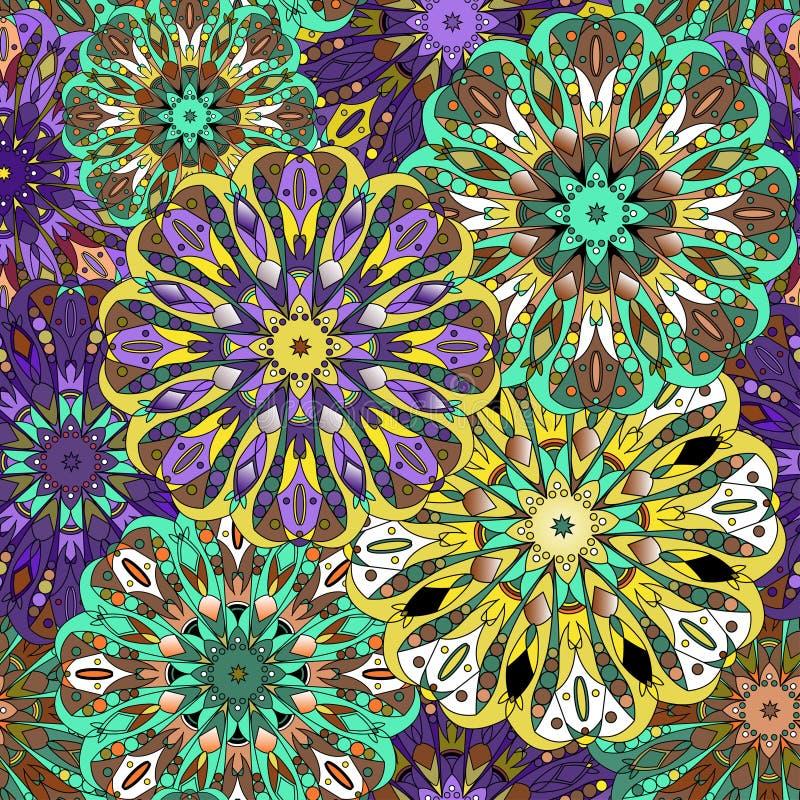 Nahtloses Muster Dekorative Elemente der Weinlese stock abbildung