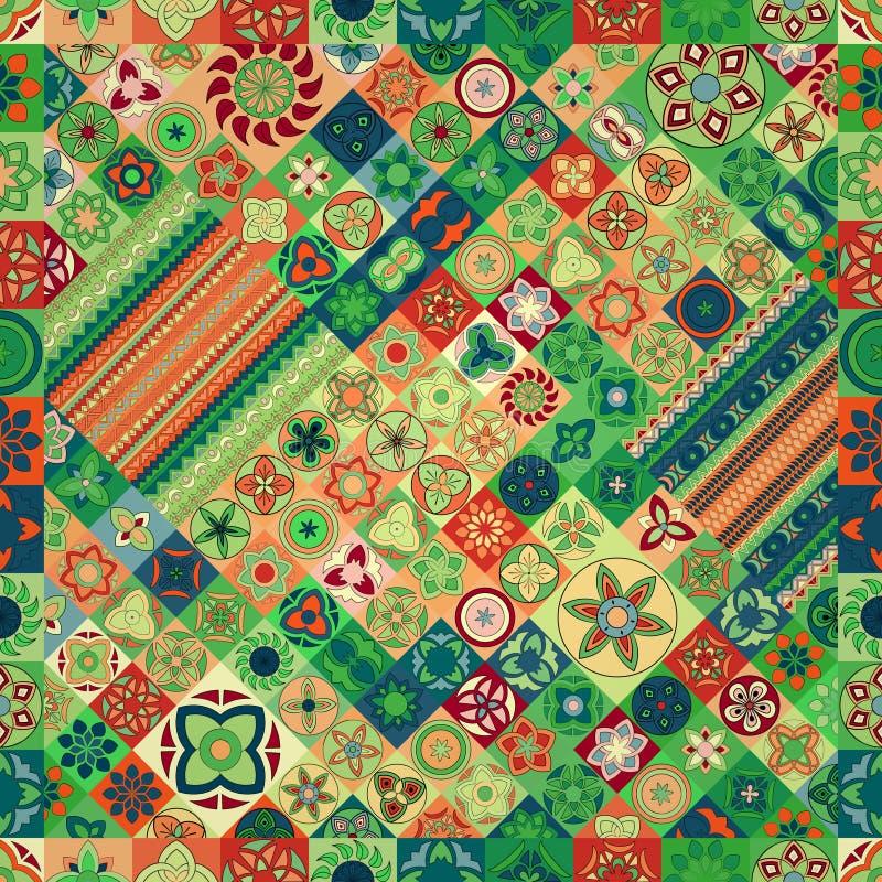 Nahtloses Muster Dekorative Elemente der Weinlese Hand gezeichneter Hintergrund Islam, Arabisch, Inder, Osmanemotive lizenzfreie stockfotografie