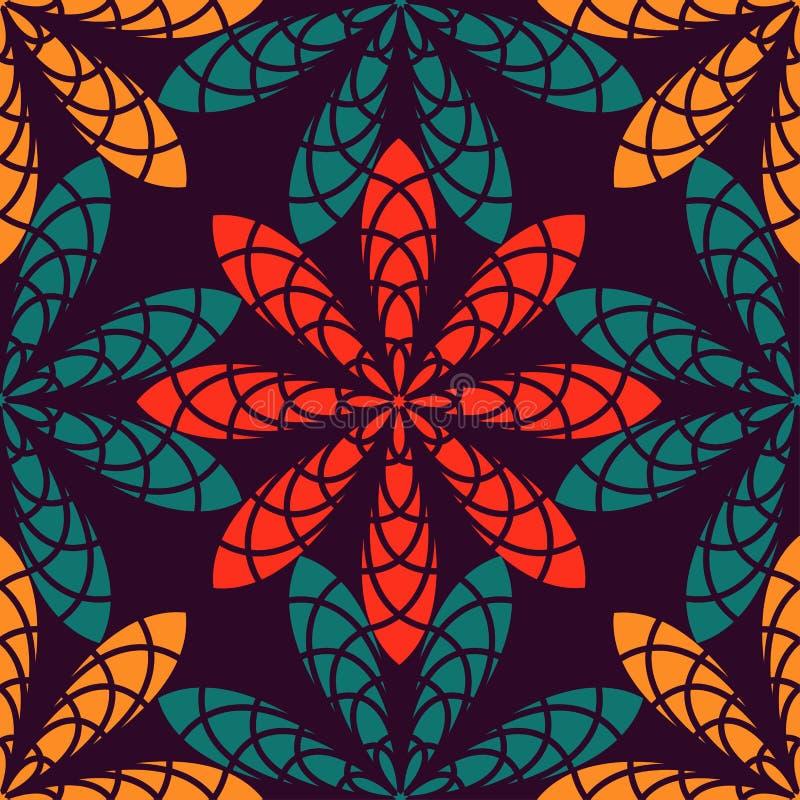 Nahtloses Muster der abstrakten Blume stockfoto