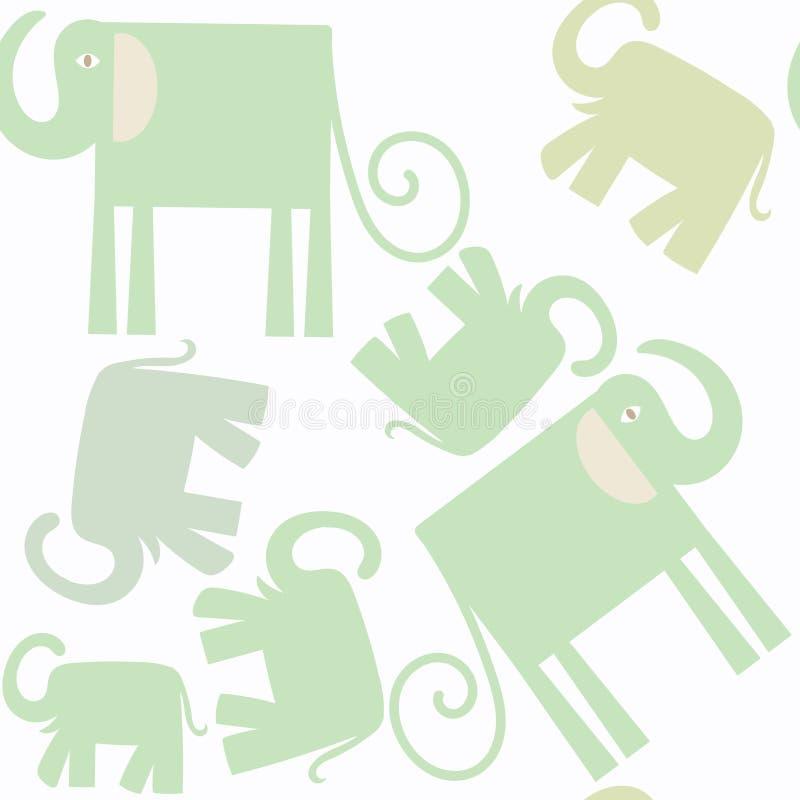 Nahtloses Muster der abstrakten Natur der Elefanten Es ist in SWA vektor abbildung