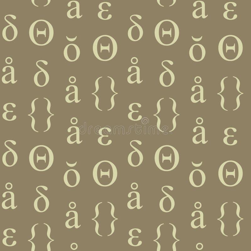Download Nahtloses Muster Der Abstrakten Typografischen Symbole Vektor Abbildung - Illustration von auszug, nett: 106803245