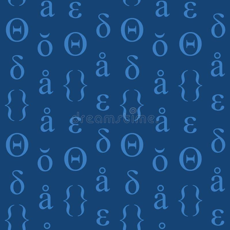 Download Nahtloses Muster Der Abstrakten Typografischen Symbole Vektor Abbildung - Illustration von ruhe, symbol: 106803359
