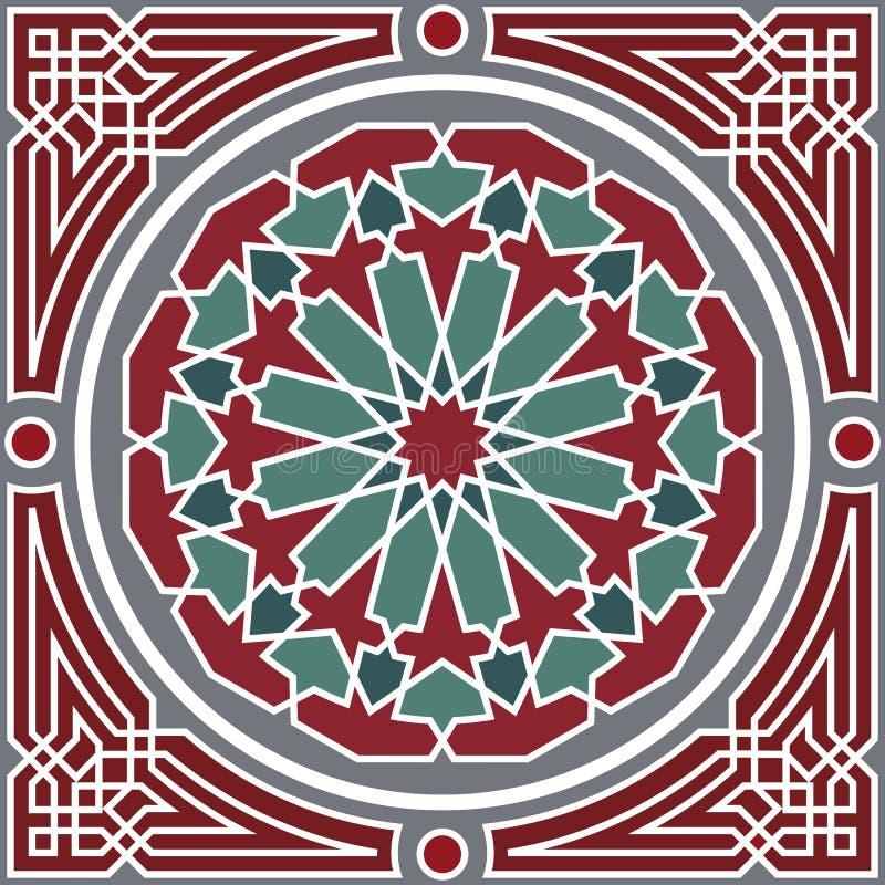 Nahtloses Muster der Arabeske lizenzfreie abbildung