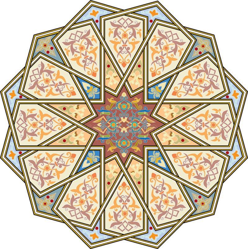 Nahtloses Muster der Arabeske stock abbildung