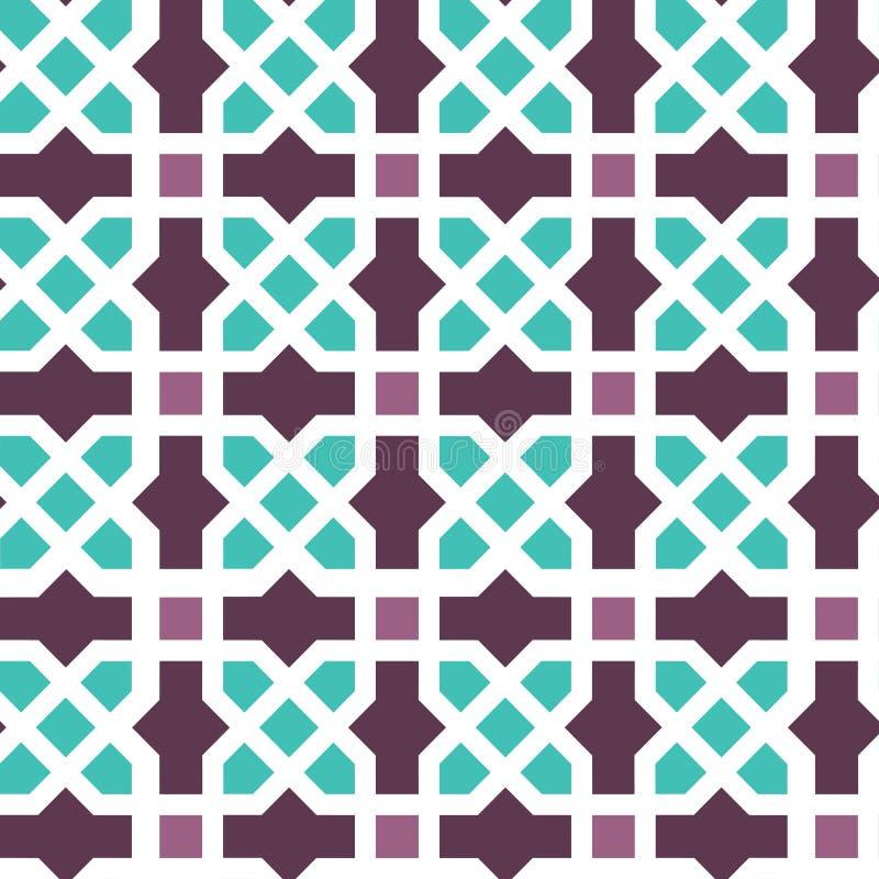Nahtloses Muster der arabischen Verzierung stockbild