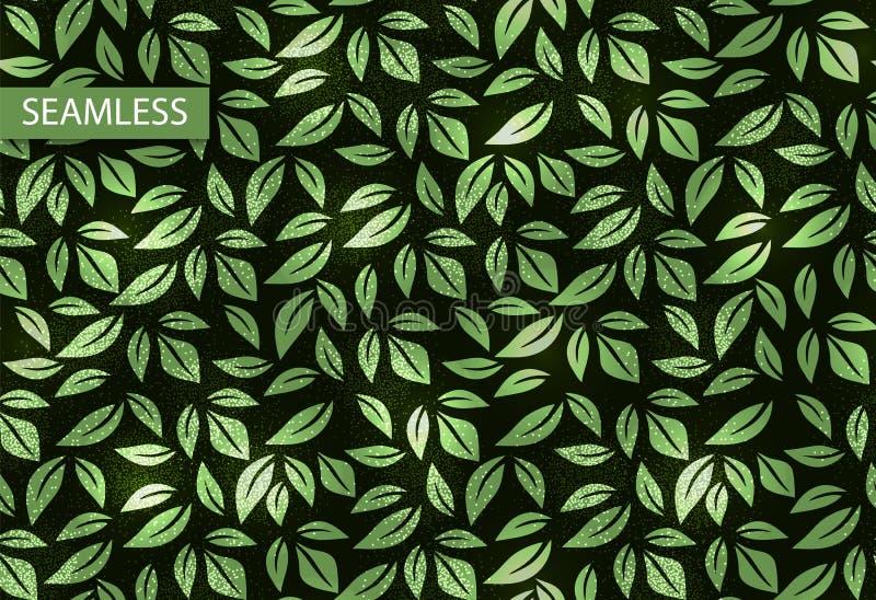 Nahtloses Muster der Blattvektorneonbeschaffenheit, Hintergrund Illustration für Dekorationsentwurf vektor abbildung