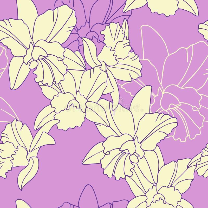 Nahtloses Muster der Blendenblume stock abbildung