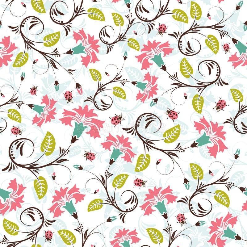 Nahtloses Muster der Blume stock abbildung