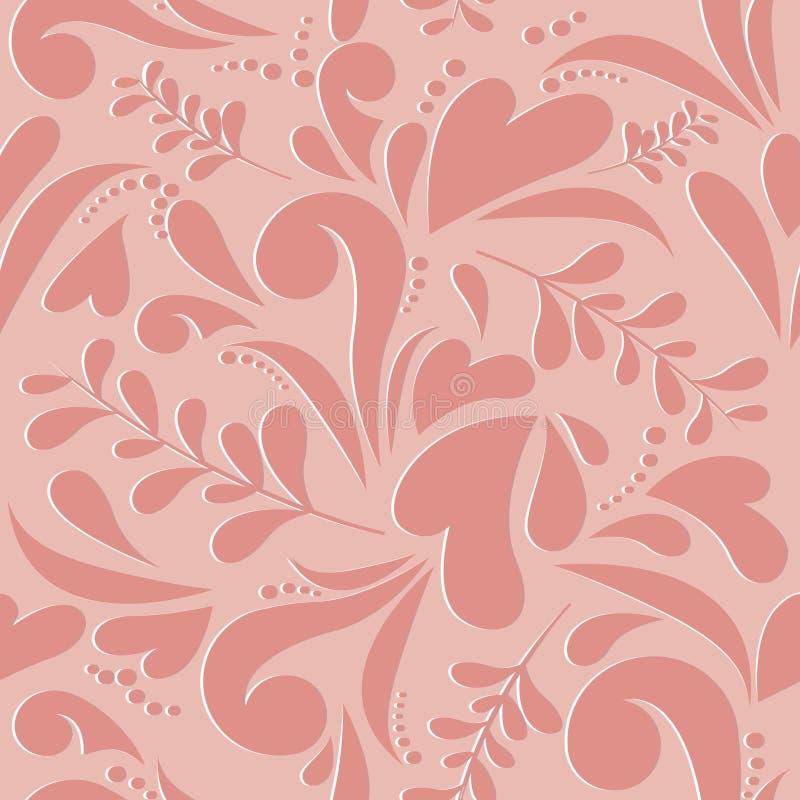 Nahtloses Muster der Blumenliebe lizenzfreie abbildung