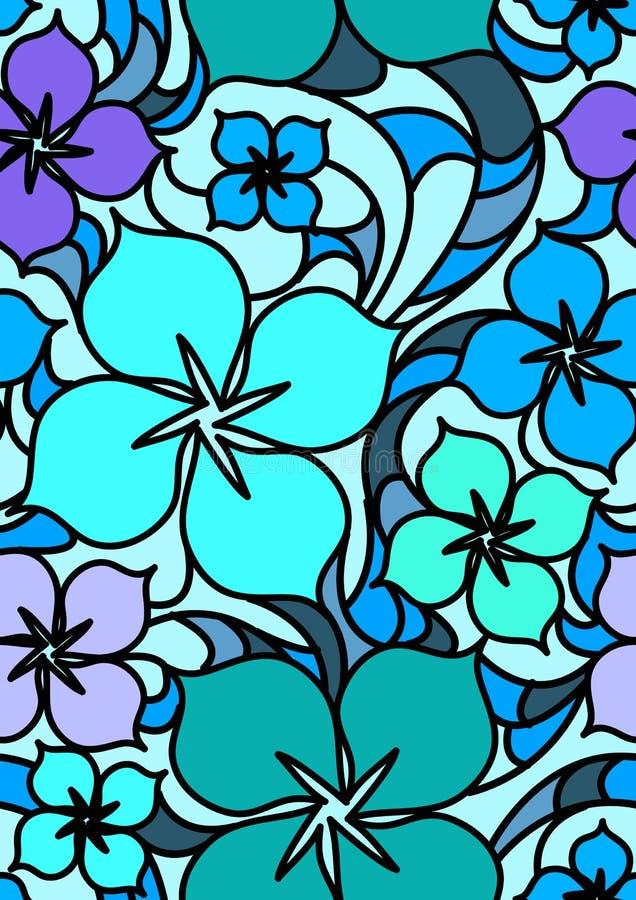 Nahtloses Muster der bunten Blumen lizenzfreie abbildung