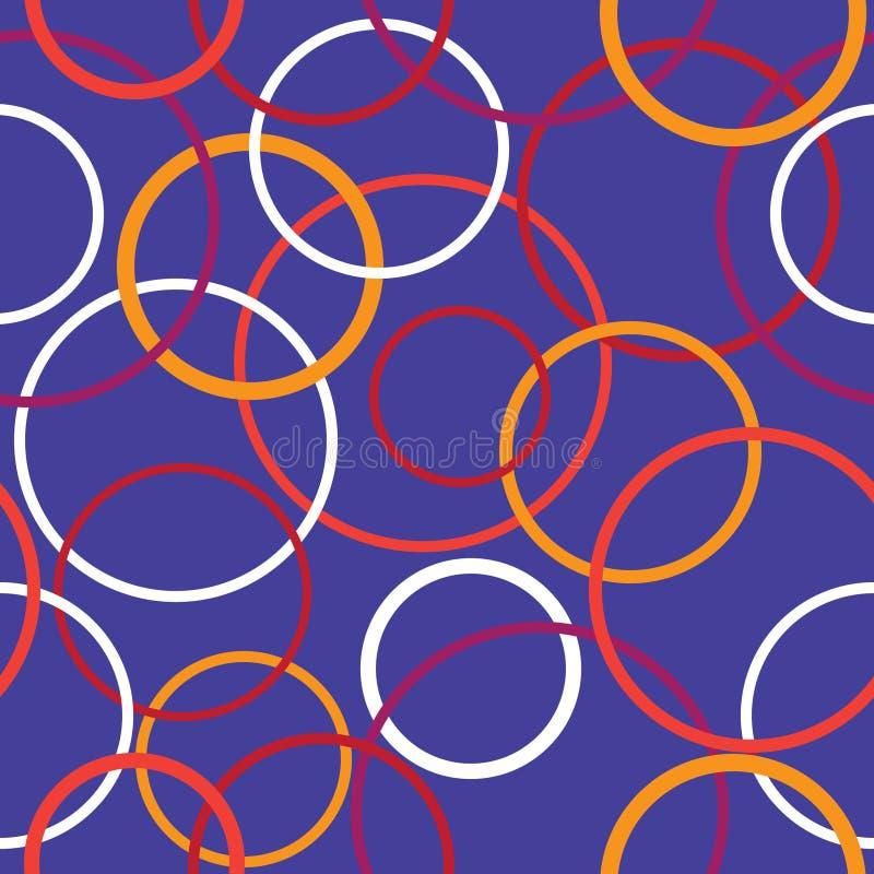Nahtloses Muster der bunten Kreise vektor abbildung