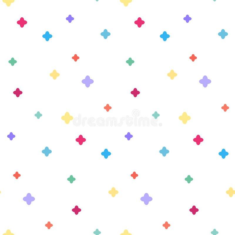 Nahtloses Muster der bunten Kreuze stock abbildung