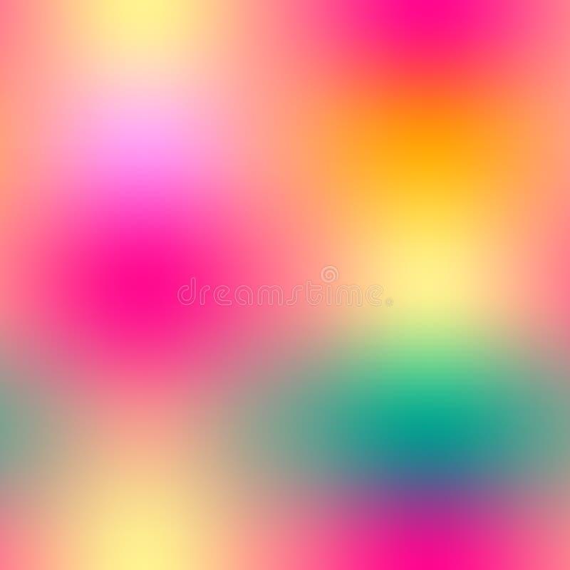 Nahtloses Muster der bunten Steigungsmasche in den hellen Regenbogenfarben Zusammenfassung unscharfes Bild lizenzfreie abbildung